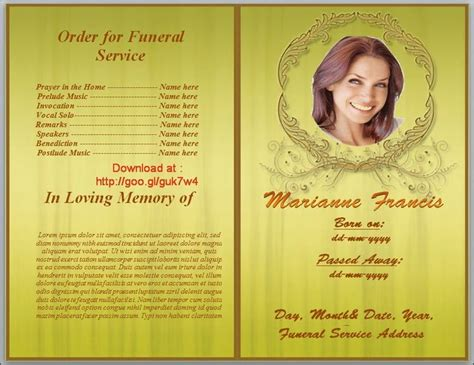 funeral program template word 79 best funeral program templates for ms word to