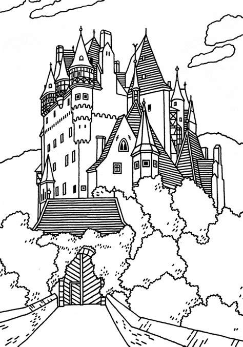 German Castle Coloring Page | great castles games castle coloring book