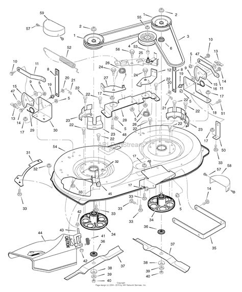 murray parts diagram murray 405013x50c lawn tractor 2007 parts diagram for