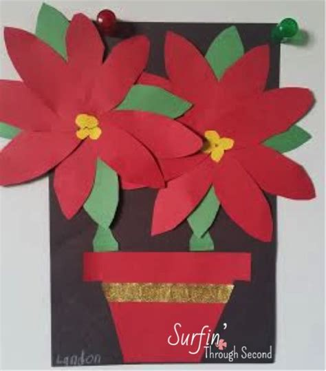Festive Poinsettias Craft Classroom