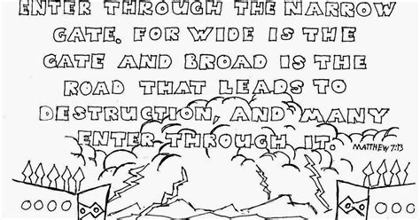Matthew 7 Coloring Pages by Coloring Pages For By Mr Adron Wide Is The Gate