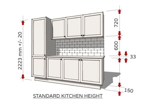 What Is The Standard Height Of Kitchen Cabinets by Standard Dimensions For Australian Kitchens Renomart