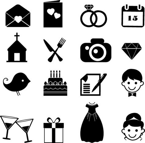 wedding invitation icons free wedding free vector 1 630 free vector for