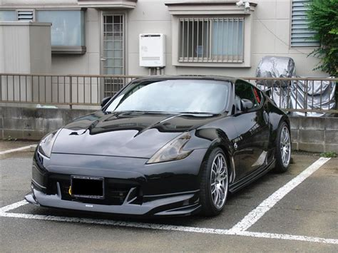 nissan 370z nismo body kit vis racing techno r style carbon fiber front lip nissan