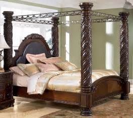 Furniture Shore Canopy Bedroom Set Shore King Size Poster Canopy Bed From Millennium By