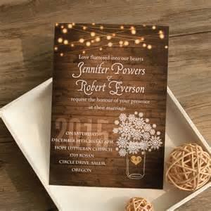 rustic wedding invitations cheap rustic stringlight snowflake winter wedding invitation