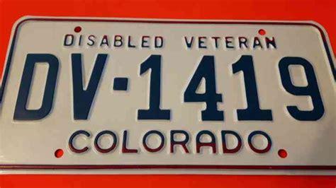 Oklahoma Vanity Plates Colorado Disabled Veteran License Plate