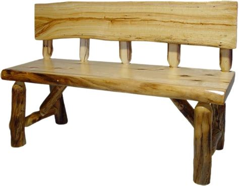 log benches with backs beartooth aspen log bench with back rustic outdoor