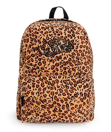 Leopard Print Backpack vans realm mocha brown leopard print backpack at zumiez pdp