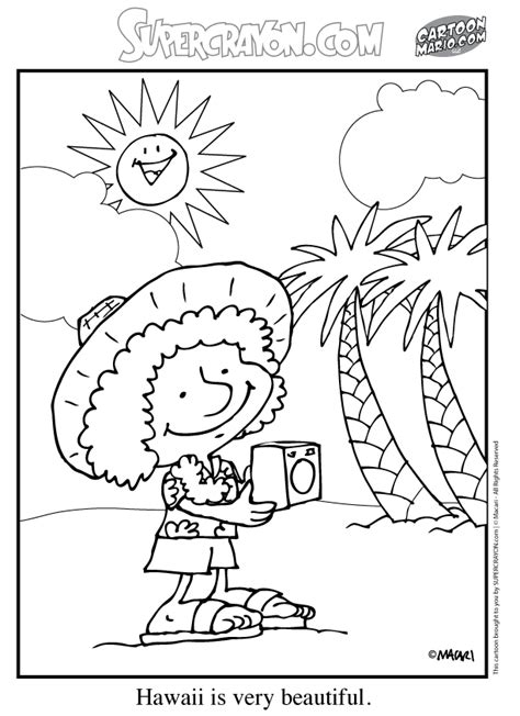 coloring pages hawaii printable hawaiian coloring pages coloring home