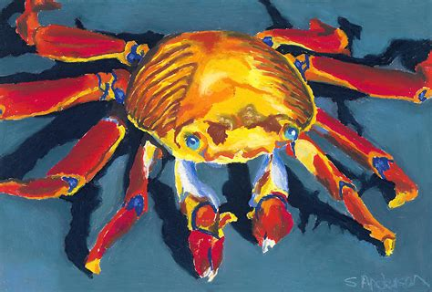 colorful crab colorful crab painting by stephen
