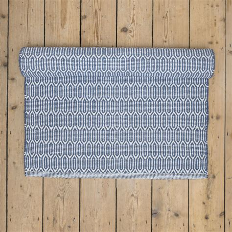 blue patterned rugs blue patterned washable cotton rug skandihome