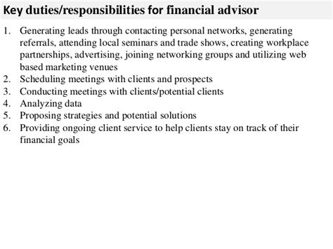 Financial Advisors Description by Financial Advisor Description