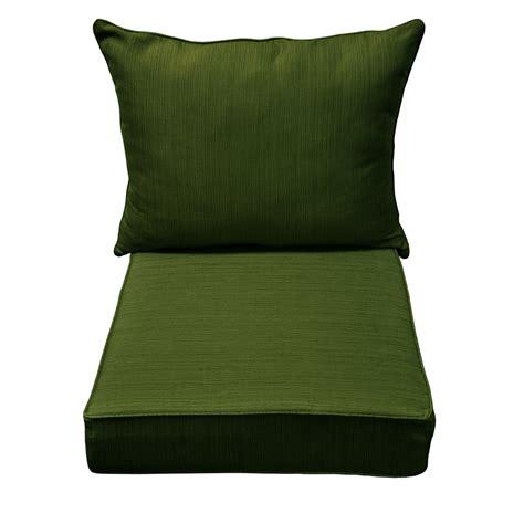 Shop allen   roth Green Patio Chair Cushion at Lowes.com