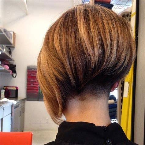 staked nape bobs asymmetrical bob with short nape undercut short bob cuts