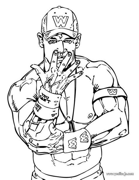 imagenes para colorear wwe dibujos para colorear luchador wwe john cena es