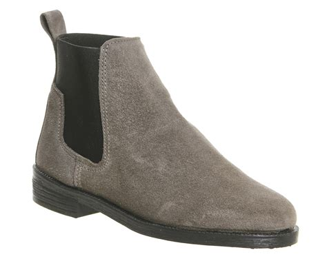 womens office chelsea boots grey suede boots ebay