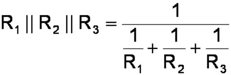 formula for 3 resistors in parallel current divider