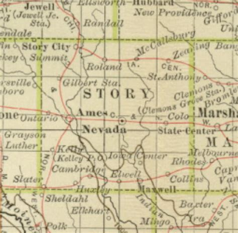 State Of Iowa Records 1897 Century Atlas Of The State Of Iowa