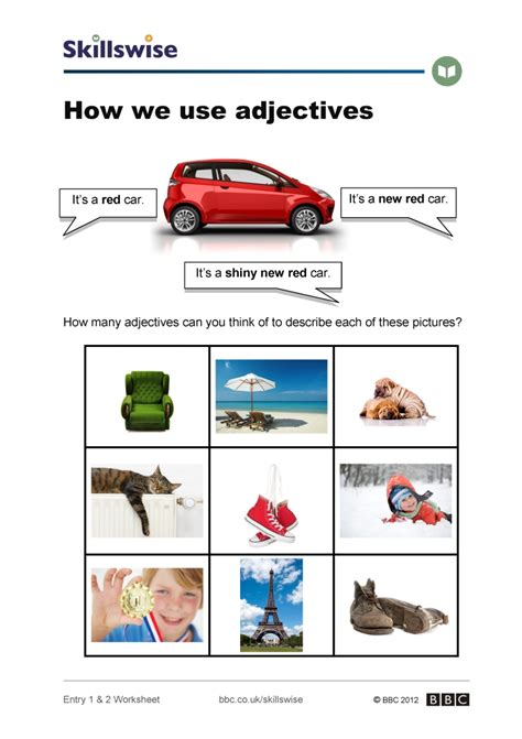 how do you use how we use adjectives