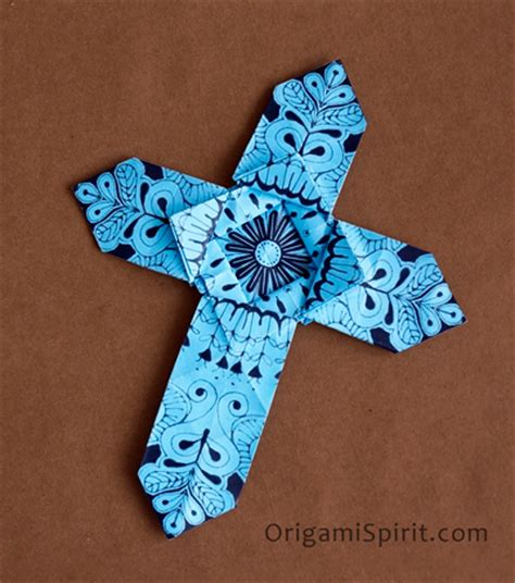 How To Make A Paper Cross - how to make an origami cross version 1 of 2