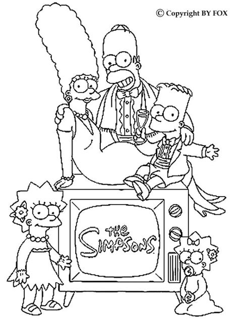 coloring pages of the simpsons christmas family portrait coloring pages hellokids com