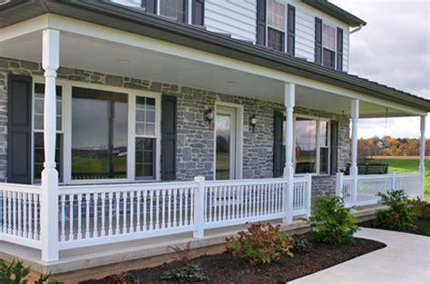 front porch banisters vinyl railings lancaster pa railing companies lancaster