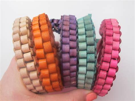 colorful leather box braid bracelet allfreejewelrymakingcom
