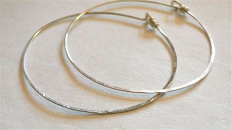 how to make hammered jewelry how to make simple hammered sterling hoop earrings diy
