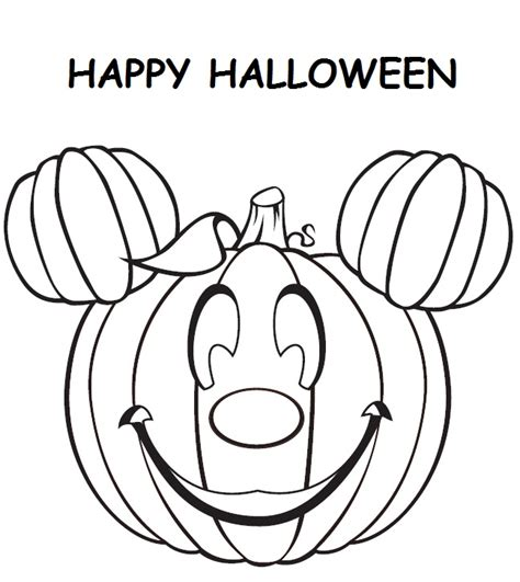 Mickey Mouse Pumpkin Coloring Page | halloween mickey mouse pumpkin coloring pages coloring