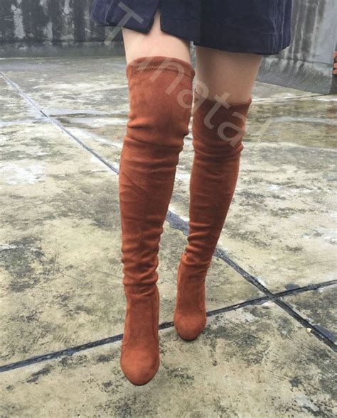 1000 ideas about stretch thigh high boots on