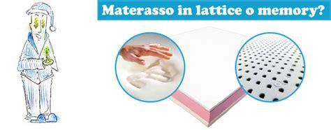 quale materasso comprare lattice o memory quale materasso acquistare