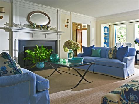 blue and white living room photo page hgtv