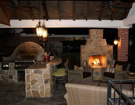 outdoor kitchen with fireplace outdoor kitchens houston dallas katy cinco ranch