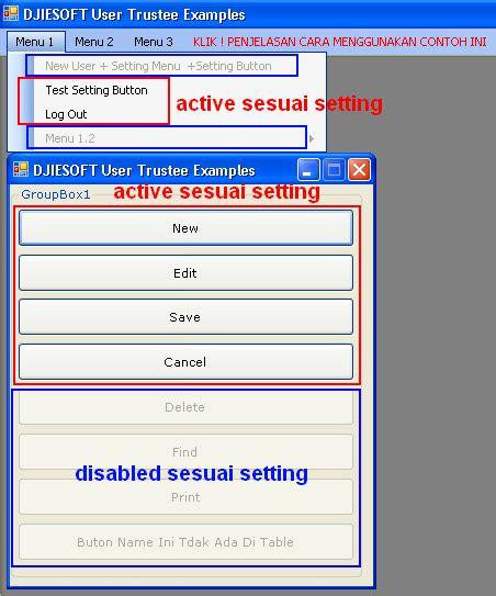 cara membuat hak akses user di php membuat user trustee setting hak ases menu buttons new