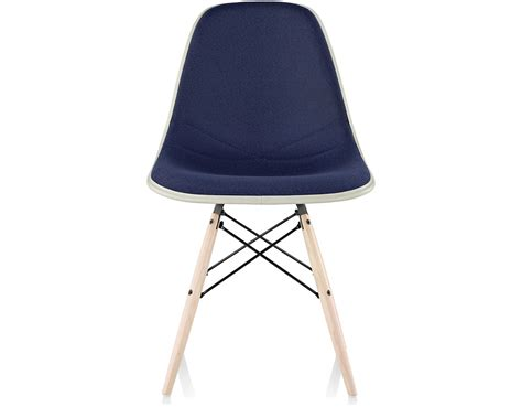 eames upholstered side chair eames 174 upholstered side chair with dowel base hivemodern