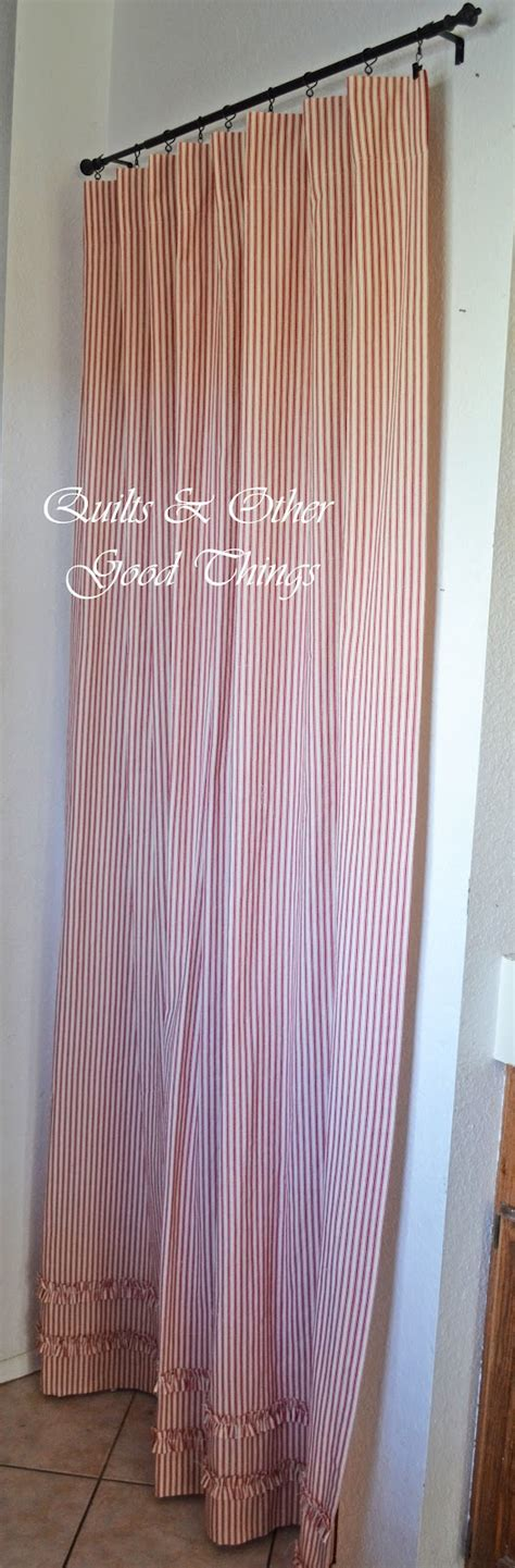 pantry curtain quilts and other good things pottery barn knockoff