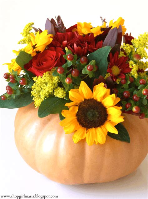 Pumpkin Flower Centerpiece Tutorial A Homemade Living Pumpkin With Flowers Centerpieces
