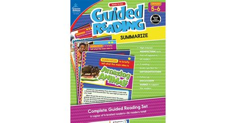 ready to go guided reading determine importance grades 3 4 books ready to go guided reading summarize grades 5 6 cd