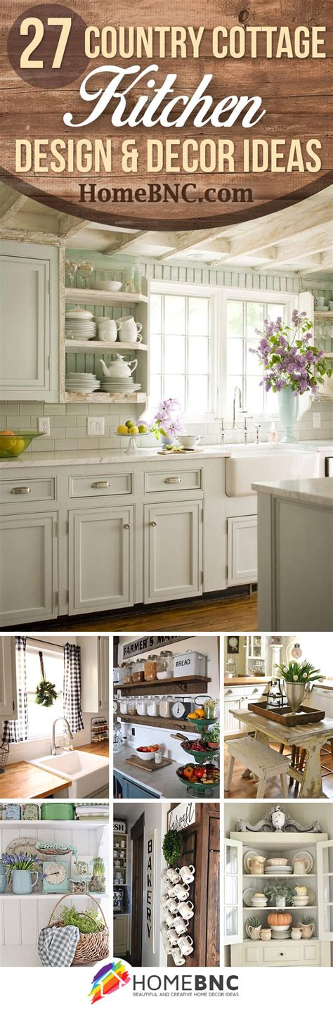 country cottage decor 27 best country cottage style kitchen decor ideas and