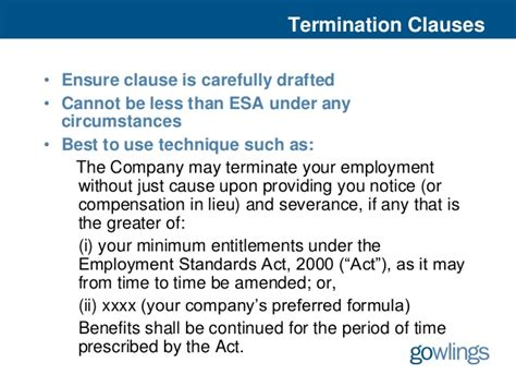 Offer Letter Termination Clause Tuning Up Your Offer Letter