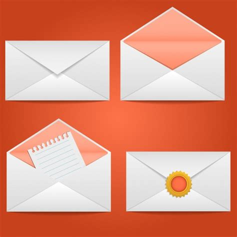 free design envelopes design collection vector free