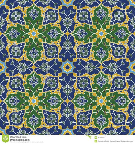 pattern arabesque vector arabesque seamless pattern in blue and green royalty free