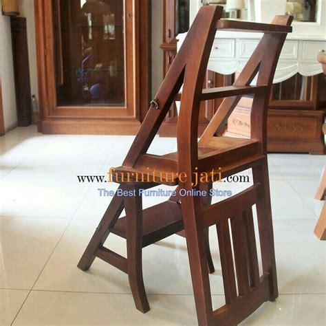 Kursi Kayu Lipat kursi tangga lipat unik multi fungsi serba guna kayu jati