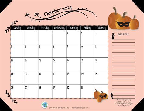 2014 October Calendar Free Printable Calendar October 2014 S Notebook