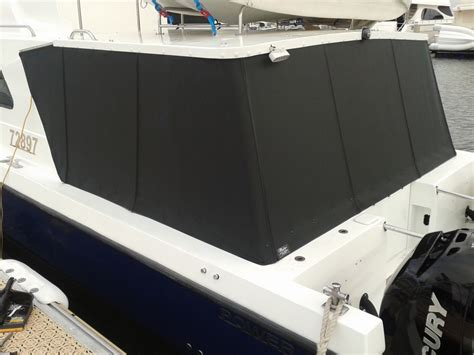 boat upholstery perth side rear covers horizon mesh prestige marine trimmers