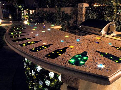 lighted bar tops how to light concrete countertops with fiber optics the