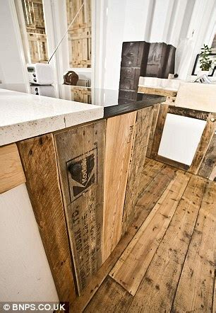 Kitchen Cabinets Made Out Of Pallets Pallet Wood Kitchen Cabinets