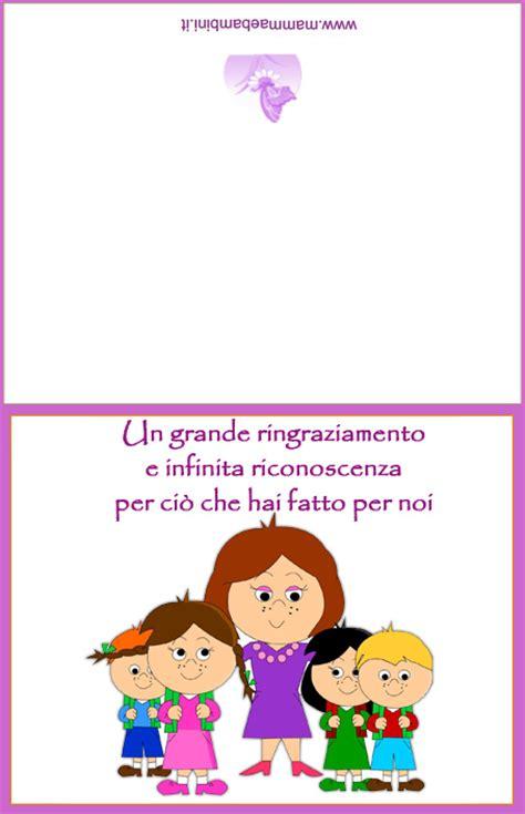 lettere di ringraziamento alle maestre biglietto per saluti alle maestre mamma e bambini