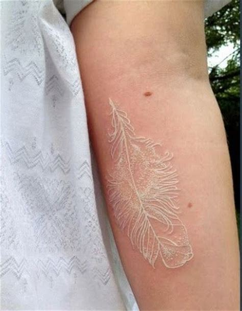 feather tattoo removal 50 gorgeous white ink tattoos white ink tattoos white